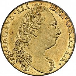 Large Obverse for Guinea 1779 coin