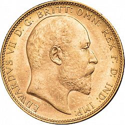 Large Obverse for Sovereign 1902 coin