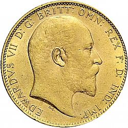 Large Obverse for Sovereign 1903 coin