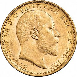 Large Obverse for Sovereign 1904 coin