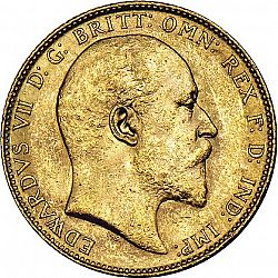 Large Obverse for Sovereign 1905 coin