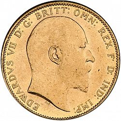Large Obverse for Sovereign 1909 coin