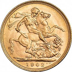 Large Reverse for Sovereign 1902 coin