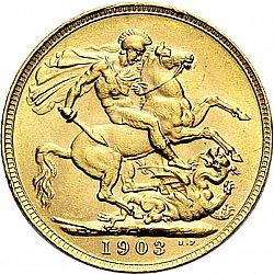 Large Reverse for Sovereign 1903 coin