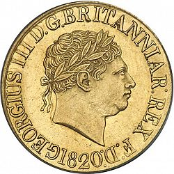 Large Obverse for Sovereign 1820 coin