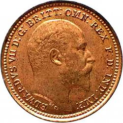 Large Obverse for Third Farthing 1902 coin