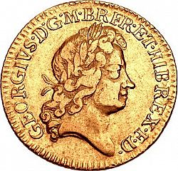 Large Obverse for Half Guinea 1726 coin