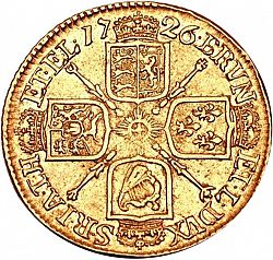 Large Reverse for Half Guinea 1726 coin