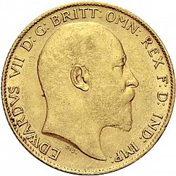 Large Obverse for Half Sovereign 1904 coin