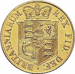 Large Reverse for Half Sovereign 1817 coin