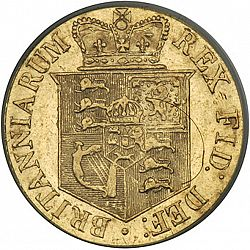 Large Reverse for Half Sovereign 1820 coin