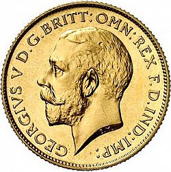 Half Sovereign From 1911 United Kingdom 1910 36 George V The Coin Database