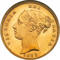 Half Sovereign from 1883 - UNITED KINGDOM 1837-01 - Victoria