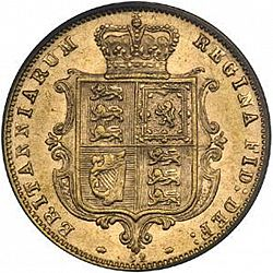 Large Reverse for Half Sovereign 1876 coin