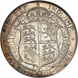 Large Reverse for Halfcrown 1906 coin