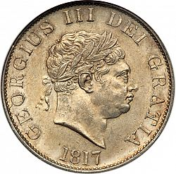 Large Obverse for Halfcrown 1817 coin