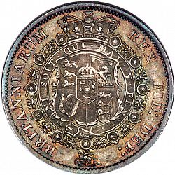 Large Reverse for Halfcrown 1816 coin