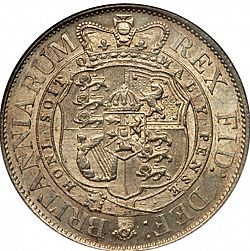 Large Reverse for Halfcrown 1817 coin