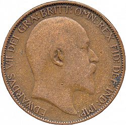 Large Obverse for Halfpenny 1905 coin