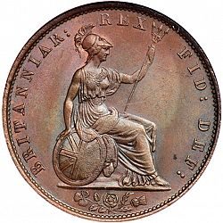 Large Reverse for Halfpenny 1831 coin