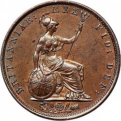 Large Reverse for Halfpenny 1837 coin