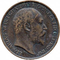 Large Obverse for Farthing 1903 coin