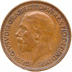 Large Obverse for Farthing 1936 coin