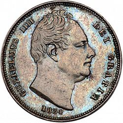 Large Obverse for Farthing 1834 coin