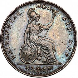Large Reverse for Farthing 1834 coin
