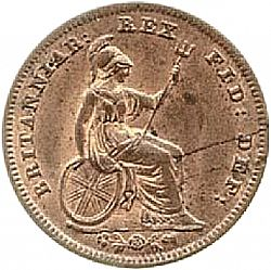 Large Reverse for Farthing 1835 coin