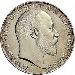 Large Obverse for Crown 1902 coin