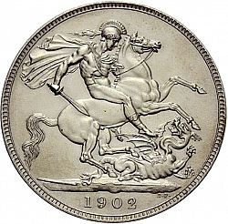 Large Reverse for Crown 1902 coin
