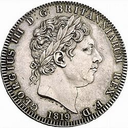 Large Obverse for Crown 1819 coin