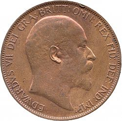 Large Obverse for Penny 1906 coin