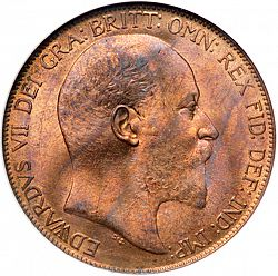 Large Obverse for Penny 1907 coin