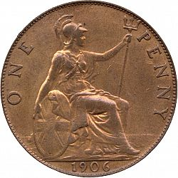 Large Reverse for Penny 1906 coin