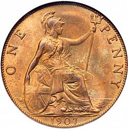 Large Reverse for Penny 1907 coin