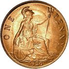Large Reverse for Penny 1920 coin