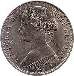 Large Obverse for Penny 1861 coin