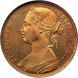 Large Obverse for Penny 1892 coin