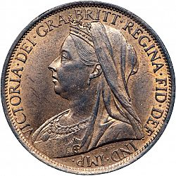 Large Obverse for Penny 1896 coin