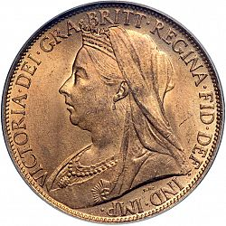 Large Obverse for Penny 1899 coin