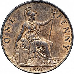 Penny From 1896 United Kingdom 1837 01 Victoria The
