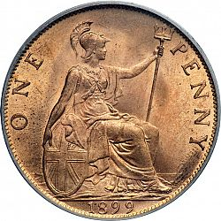 Large Reverse for Penny 1899 coin