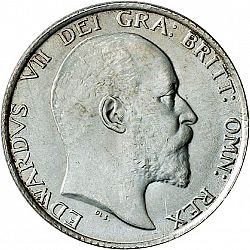 Large Obverse for Shilling 1902 coin