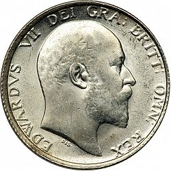 Large Obverse for Shilling 1907 coin