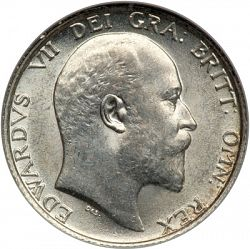 Large Obverse for Shilling 1909 coin