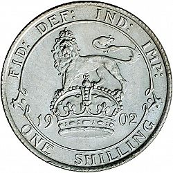 Large Reverse for Shilling 1902 coin