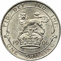 Large Reverse for Shilling 1906 coin