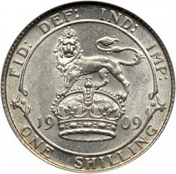 Large Reverse for Shilling 1909 coin